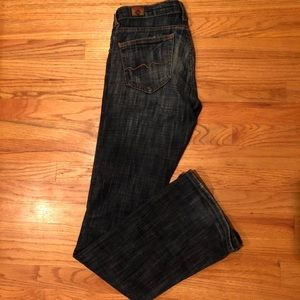 Red Engine Stretch Flare Jeans size 27